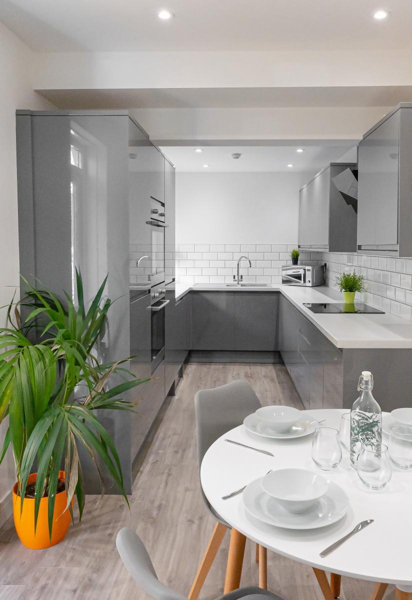 Modern Kitchen Student Accommodation Portsmouth